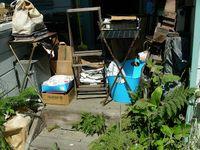 Messy porch